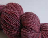 Mulled Maroon, Hand-Dyed Yarn, DK Sportweight, merino mohair