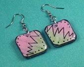 Ziggedy Zag Shrink Plastic Earrings by JLVS