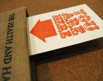 YOU ARE HERE- Gocco screenprinted bookmark