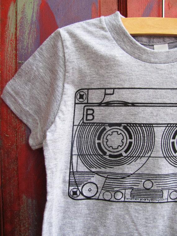 SALE - Mixtape : screenprinted kids t-shirts for girls or boys