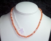 Graduated Round Fire Opal Strand - 16inches