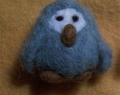 Grey and Blue One inch Owl