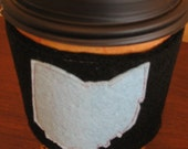 Ohio Coffee Sleeve, the Blue State by AmyD