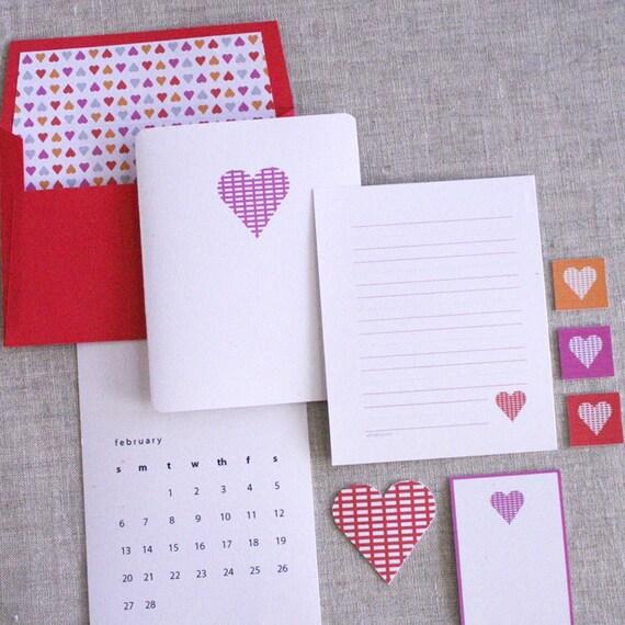 valentine's day - pdf printable stationery set