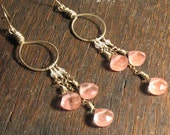 Perfectly Pink Dangly Earrings