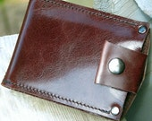 Men's Wallet - Leather Money Clip - Slim Jim - Brown