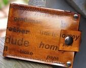 Men's Billfold Leather Wallet - Slim Jim Money Clip Wallet - Identity - Brown