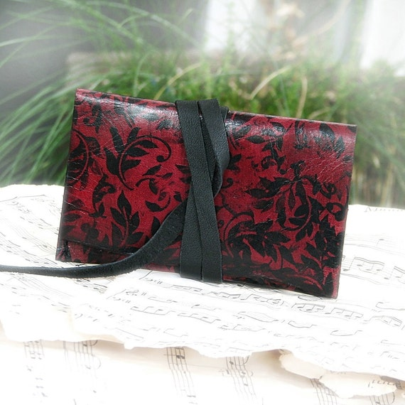 Leather ID Card Wallet -- Baroque Oxblood