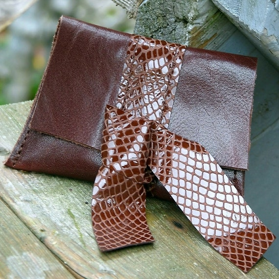 Women's Leather Coin Purse Wallet - Brown