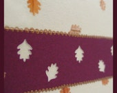 Gorgeous Cream and Red Autumn Leaves Card