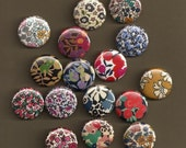 One Inch Magnets - Liberty of London Fabrics - Assortment of 16