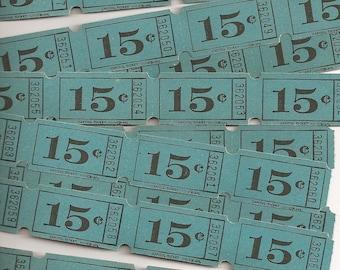 Vintage Tickets - 100 Tickets