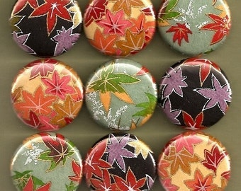 One Inch Magnet Set - Bold Leaves