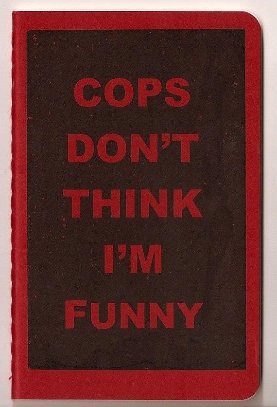 Moleskine Pocket Notebook - Gocco Print - Cops