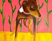 primitive portrait painting of your pup