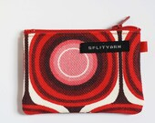 Red Mod wee zippered notions pouch