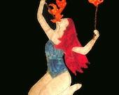 For KissedbyFire .... Red Headed Fire Eater (girl) tee