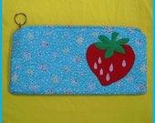 shirley strawberry clutch