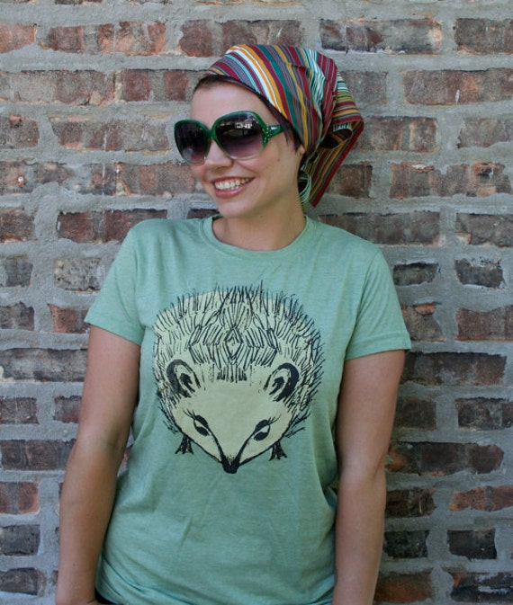 SALE - Hedgehog t-shirt for women in XS, and S