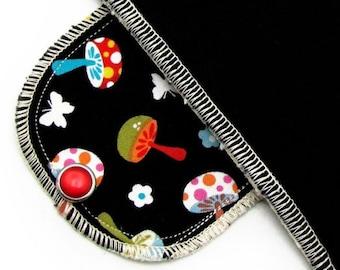 Pantyliner Moonpads Organic Reusable Cloth Menstrual Pads - Happy Mushrooms