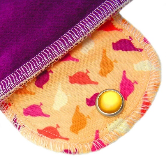 Over Night Little Birds Organic Cotton Moonpads Reusable Washable Cloth Menstrual Pad