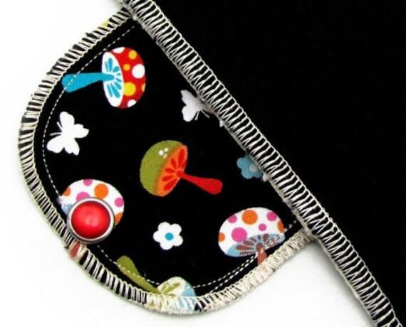 Organic Overnight Moonpads Cotton Reusable Cloth Menstrual Pads - Happy Mushrooms