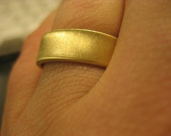 Plain Brass Wedding Band in Brushed Matte Finish