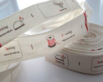 SEWING Print Fabric Ribbon Trim
