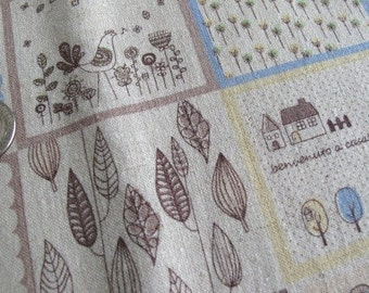 Japanese TEA TIME Fabric 1FQ (Blue)