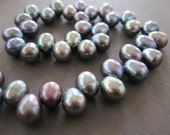 Rainbow Peacock Large Oval Freshwater Pearls