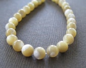 Mother of Pearl Cream And Tan Round Beads