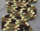 Classic Jungle Camouflage Scarf - Camo Scarf - Camouflage Scarf - Teen Scarf - Men's Scarf - Boy's Scarf - Handmade Scarf - Ready to Ship