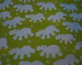 IKEA Hippo Fabric in Lime Green