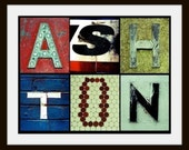Custom Alphabet Letter Photo Art- ANY WORD or NAME Personalized