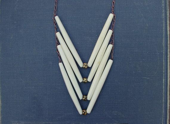 Chevron Bone Necklace