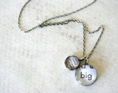 graduation necklace in recycled silver - dream big