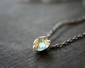 elsie necklace in vintage map