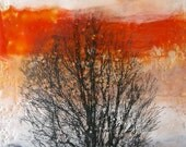 Sunset no. 1 Original Encaustic Painting on panel - jamieribisi