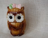vintage owl pepper pot