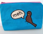 Blue Apathy Bird Pouch Large