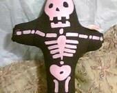 Pink Calavera Doll Dia de los Muertos etsydarkside