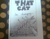 That Cat Is Hungry -mini comic book