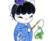 Dragon Fish Print
