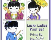 Lucky Ladies Kakeshi Print Set