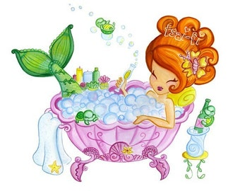 Bubble Bath Wishes 8 x 10 Print