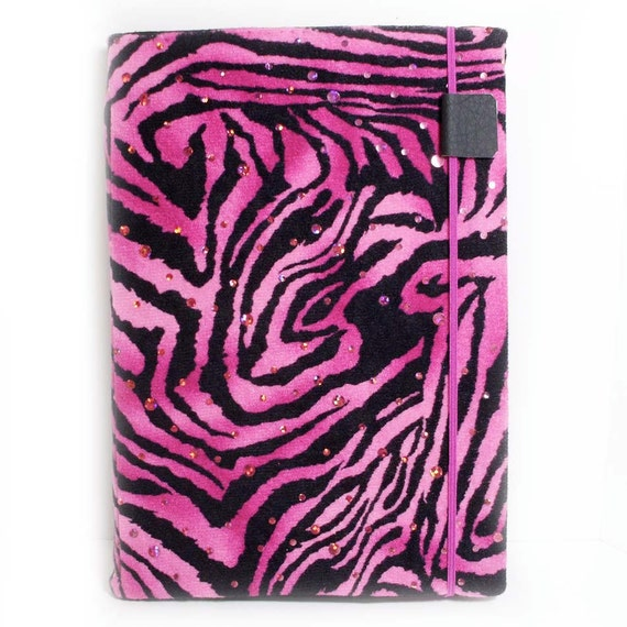 Kindle 2 or nook color cover pink disco tiger hard sided case ready