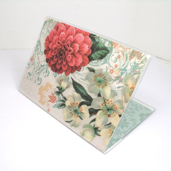 Passport Cover - Sweet Dahlia Floral - fits US passports