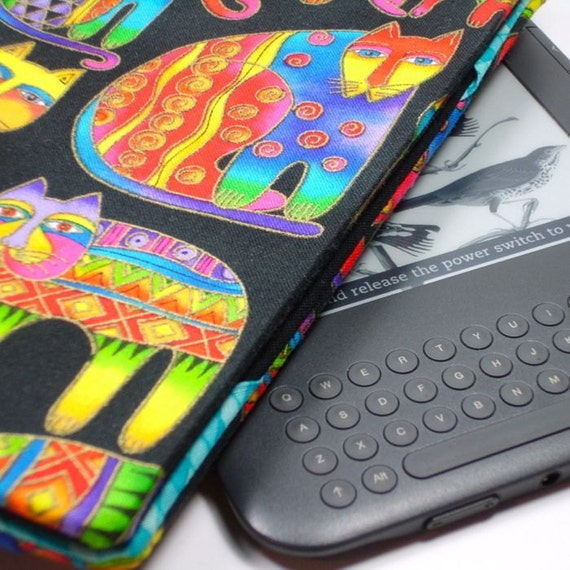 Kindle Keyboard cover - Rainbow Cats - hard sided Kindle 3 cover - ready to ship