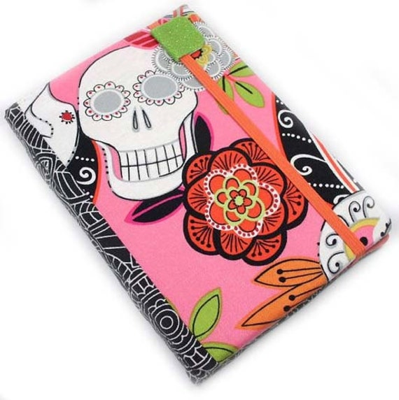 Kindle 4 Cover - Sweet Sugar Skulls - hard sided cover for small kindle without keyboard - ready to ship