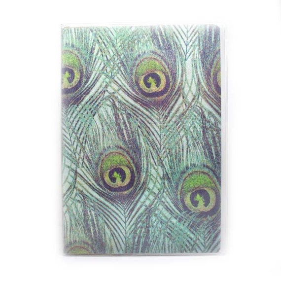 Passport Cover - Peacock Feather print - pretty passport holder - travel accessory